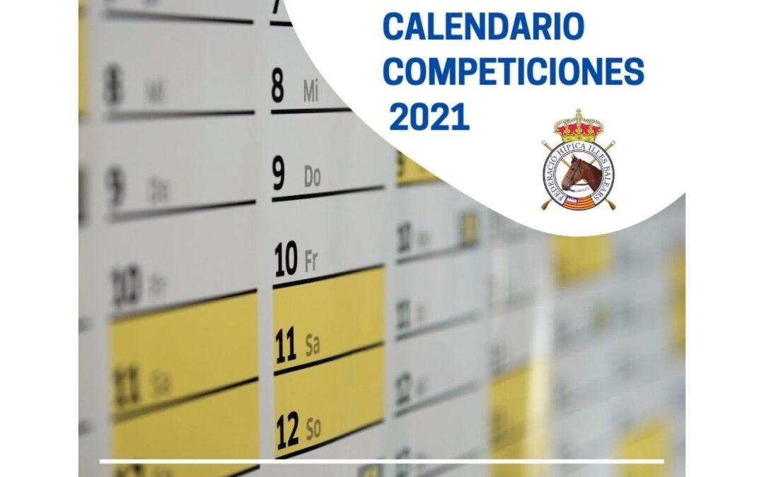 CALENDARIO COMPETICIONES 2021
