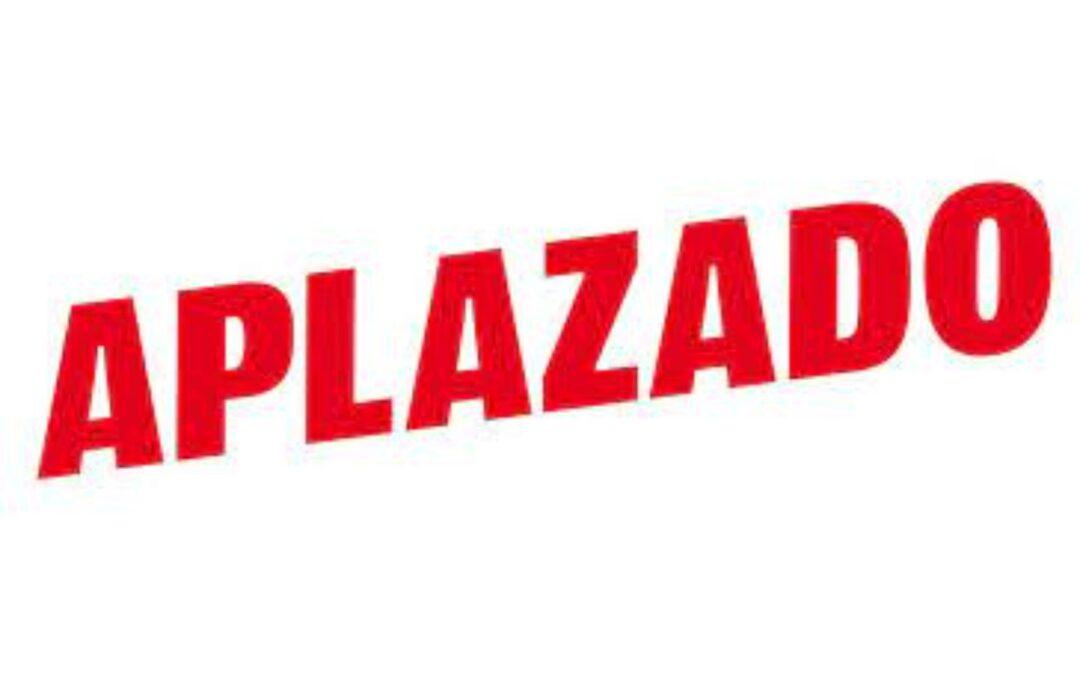 IMPORTANTE COMUNICADO SOBRE APLAZAMIENTO CSN** CIUTAT DE PALMA POR COVID